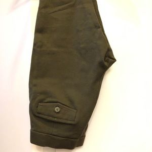 J. Crew leggings in olive green